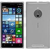 PhoneNatic Hülle kompatibel mit Nokia Lumia 830 - weiß Silikon Hülle transparent + 2 Schutzfolien