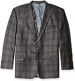Haggar Men's Big and Tall B&T Plaid Lambswool Classic Fit Sport Coat, Dark Heather Grey, 50L