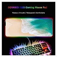 デスクマット ビーチ風景マウスパッドゲーマーマウスパッドラージデスクマットコンピューターキーボードゲームプレイマットカーペットゲームマウスパッド (Color : RGB 300X800X4MM)
