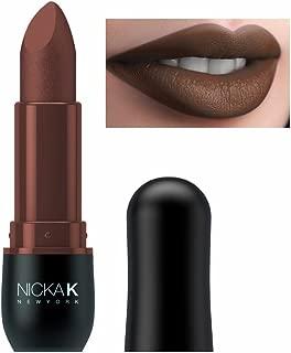 (3 Pack) NICKA K Vivid Matte Lipstick - NMS14 Maroon