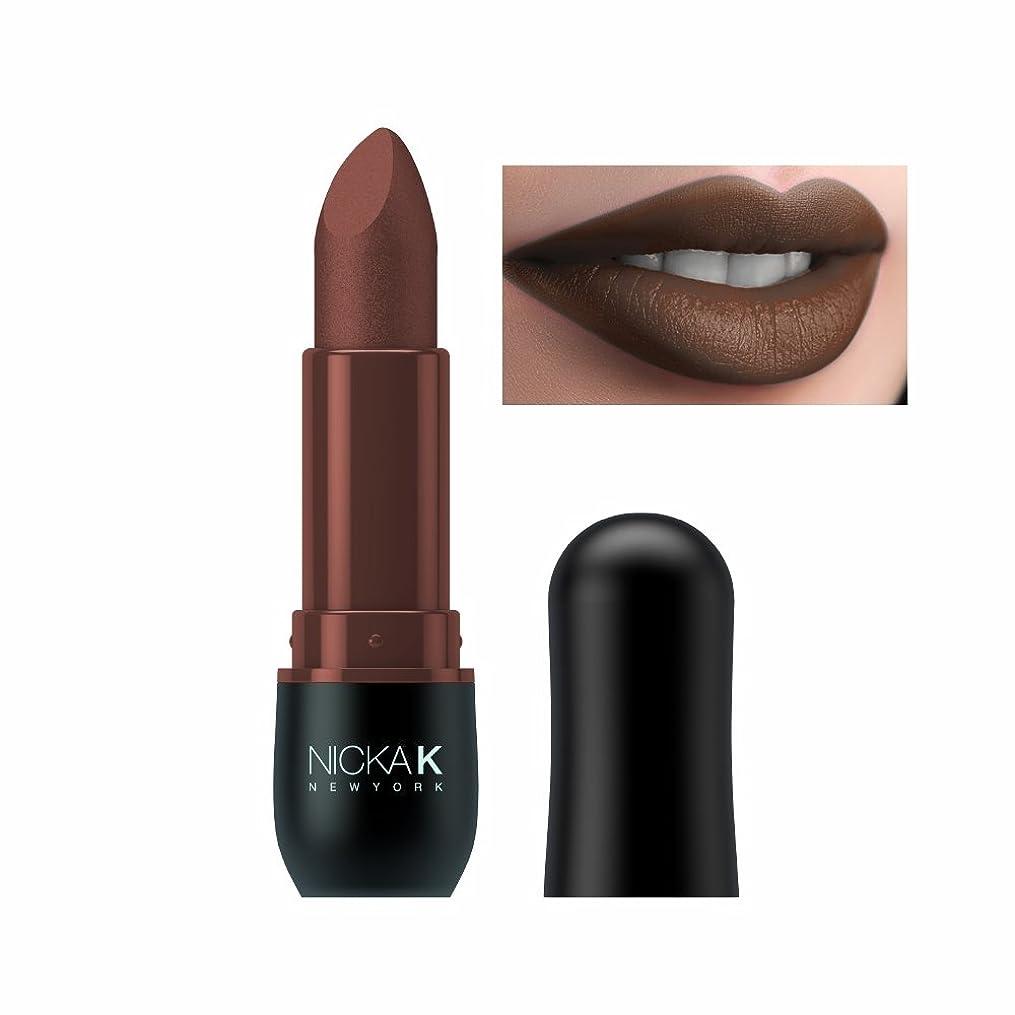 牽引多用途兵隊NICKA K Vivid Matte Lipstick - NMS14 Maroon (並行輸入品)