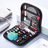 Kit de costura, Accesorios de costura premium con 73 piezas Accesorios Costura DIY con Tijeras, Dedos,Hilos, 30 Agujas de Coser, Kit de Costura de viaje