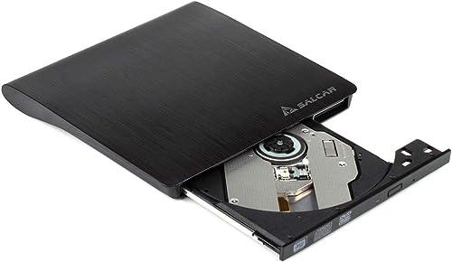 Salcar - USB 3.0 Externe Lecteur Graveur CD DVD Ultra Slim Portable DVD RW 9.5mm Pour Desktop / PC sous Windows et Ma...