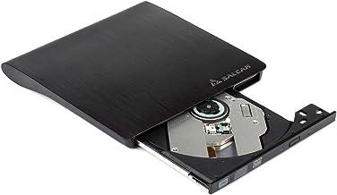 SALCAR Premium Laufwerk extern für DVD/CD - Brennsoftware - Für Apple MacBook, Windows und weitere Notebooks - externer DVD-Brenner - Schwarz