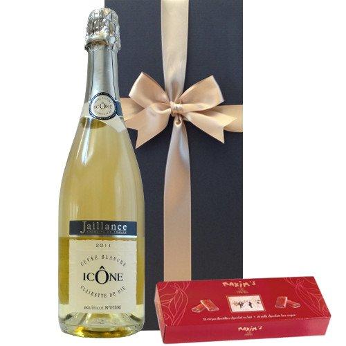 お祝い 結婚祝い 結婚記念日 誕生日 スパークリング チョコレート ギフト フランスの高級チョコレート「マキシム・ド・パリ」 チョコレートレースクレープ 年間限定生産のフランススパークリング(750ml)【ギフト】贈答用 贈り物 プレゼント