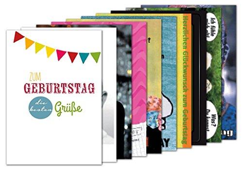 10er-Pack: Postkarten A6 +++ MIX SET Nr. 2 von modern times +++ 10 schöne GEBURTSTAGS-Motive +++
