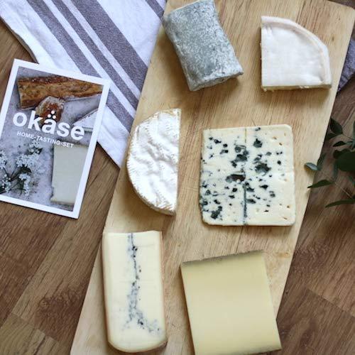 okäse Käse Home-Tasting-Set - 6 verschiedene Sorten Käse, mit Tasting-Anleitung | Präsentkorb | Geschenk