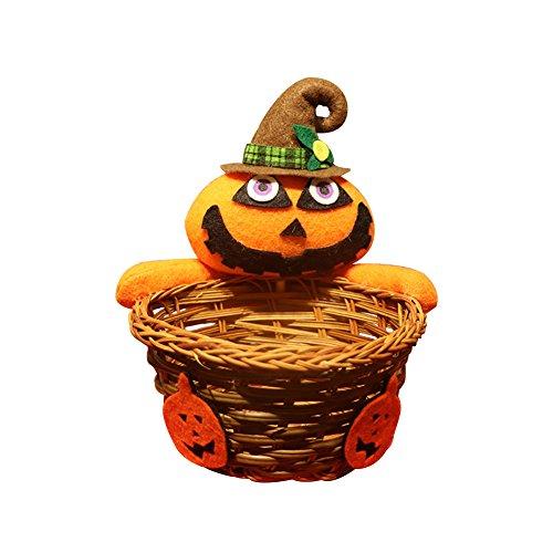 Gespout Sacchetto di Caramelle Stoffa Scatola di Caramelle Bambola Cesto di bambù Scatole da Regalo per Feste di Compleanno Anniversario Matrimonio e Decorazioni Halloween