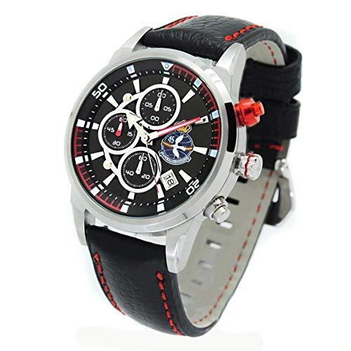 Reloj Aviador RBF Grupo 45 AV-1060-2 de Acero con Esfera Negra y Pulsera RBF de Color Negro en Piel Resistente al Agua.