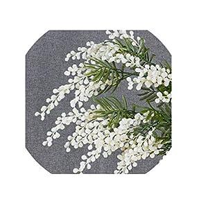 5 PCS Yellow Mimosa Spray Silk Flower Artificial Flower Wedding Flower Party Event Decor
