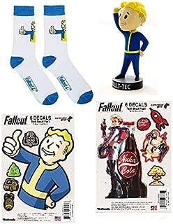 Fallout 4 Vault-Tec Vault Boy Perception Bobblehead, Decals, and Socks Gift Set