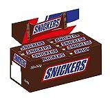 SNICKERS - Barres au chocolat au lait fourrée de caramel et cachuètes grillées - Maxi Pack - 32 barres de 50g