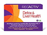 REG'ACTIV Detox & Liver Health, 60 Capsules, with The Glutathione-producing probiotic Lactobacillus fermentum ME-3, Easy-to-Digest Selenium and Milk Thistle Extract