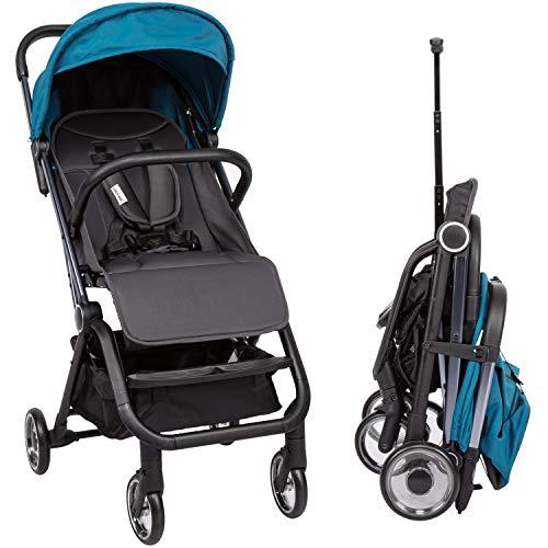 Kinbor Umbrella Stroller Lightweight Easy Fold, Toddler Stroller with Seat Belt, Large Storage Basket, Multi-Position Recline