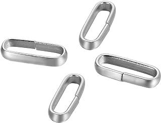 Pièces de rechange Bijoux LiangGui 30pcs Fermoirs en Forme de Triangulaire en Acier Inoxydable pour Création De Bijoux Collier Bracelet en Cuir et Sac