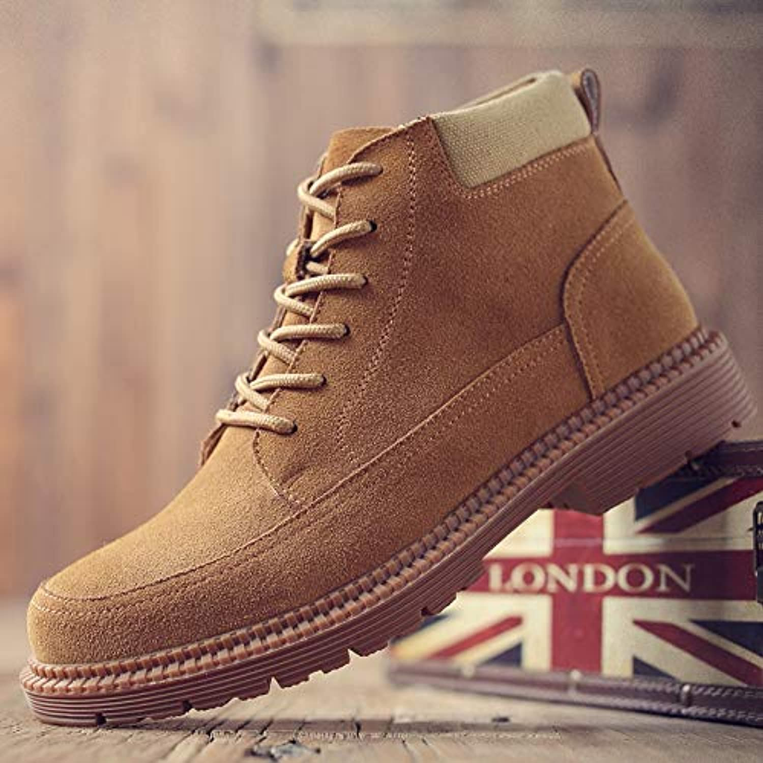 LOVDRAM Boots Men's Martin Boots In The Fall Increased Male Desert Tooling Short Boots Men'S shoes Retro In The Boots