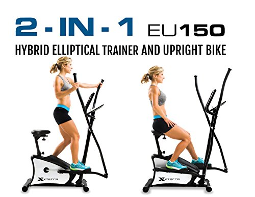 Product Image 7: XTERRA Fitness EU150 Hybrid Elliptical/Upright Bike, Black