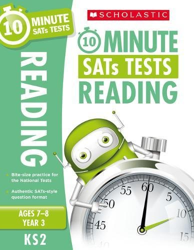 10-Minute Tests for Reading - Year 3 (Ages 7-8). Quick tests to help you identify catch-up areas. (10 Minute SATs Tests)