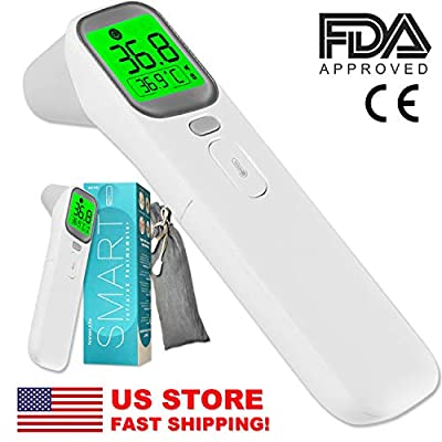 Non-Contact Forehead Infrared Thermometer Body Temperature FDA Approved, No-Touch Digital Thermometer, 1 Second Measure (Offer Overnight Shipping)