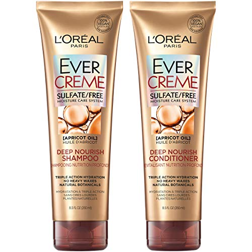 L'Oreal Paris EverCreme Shampoo & Conditioner Kit for Dry Hair, 8.5 Ounce, Set of 2