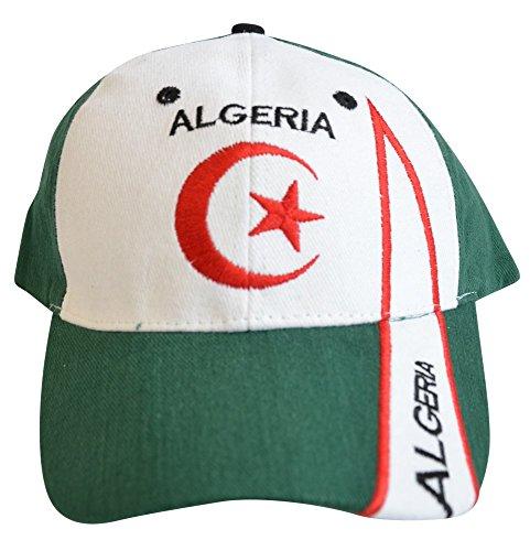Flaggenfritze Kappe Motiv Algerien Fahne, fan - Cap mit algerischer Fahne