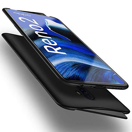 X-level Oppo Reno2 Hülle, [Guardian Serie] Soft Flex Silikon Premium TPU Echtes Handygefühl Handyhülle Schutzhülle Hülle Cover für Oppo Reno 2 - Schwarz