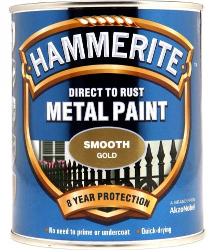 HAMMERITE Direct To Rust Smooth Finish 750ml Gold