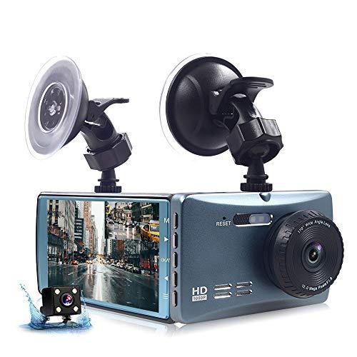 Metallo Guscio di Guida Registratore Auto nei Pressi di HD dell'automobile di Visione Notturna Che Inverte Registratore Dual Video di Nascosto