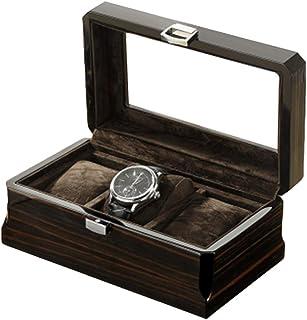 3 Watch Storage Display case Wooden Watch Storage Box Bracelet Pillowcase Birthday Gift Party Gift Creative Simple Retro (Black)