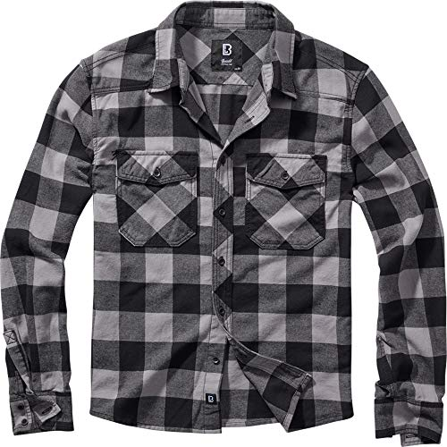 Brandit Check Shirt Black-Charcoal XL