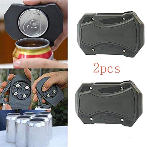 Xcvbnm Ez Drink Opener Go Swing Topless Can Opener Bar Tool Safety Easy Manual Can Opener Manual Can Opener Smooth Edge Topless Beer Can Opener Bottle Cap Remover Bottle Opener (2pcs Can Opener)