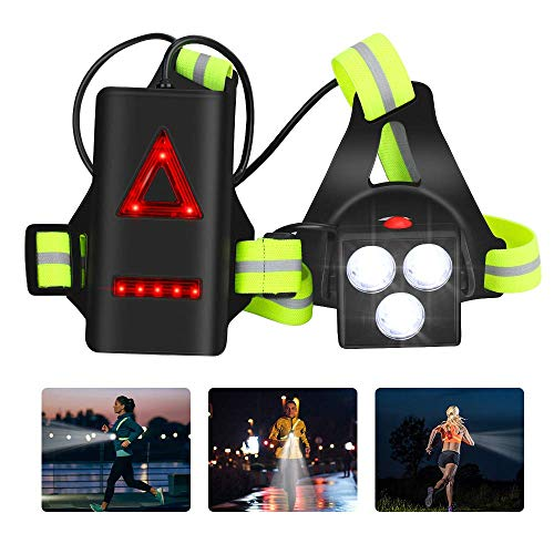Aceshop Running Light Lamp USB Rechargeable LED Chest Light Waterproof...