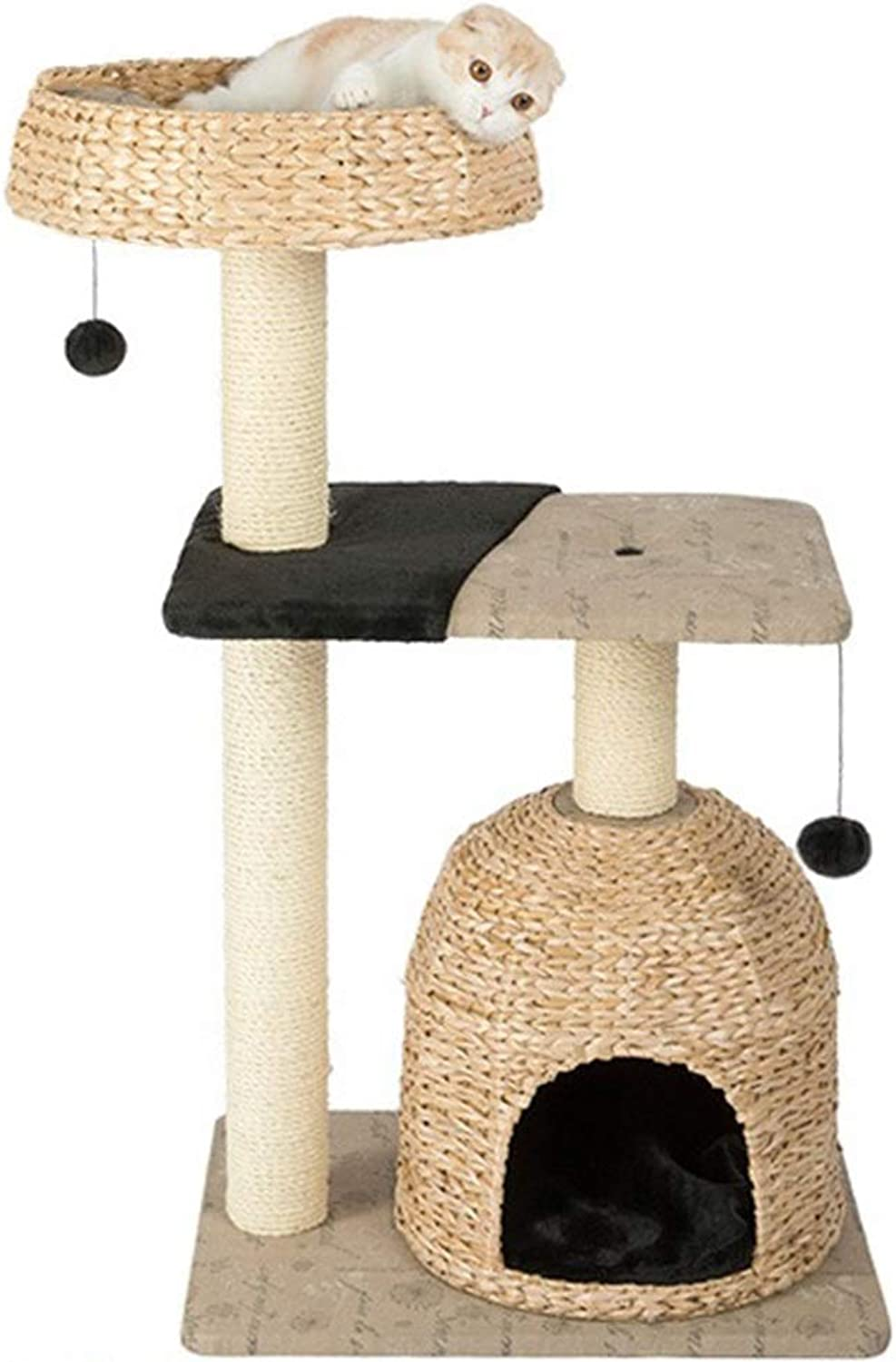 LXHONG Cat Climbing Frame Cat Furniture Pet Supplies Handmade Breathable Rest Apartment Spacious Easy To Install (color   A, Size   60X45X105CM)