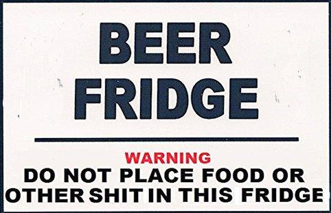 Funny Novelty Beer Fridge - Photo Fridge Magnet