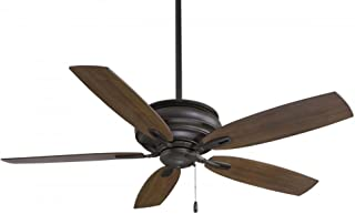 Minka-Aire F614-ORB Downrod Mount, 5 Wood Finish  Blades Ceiling fan, Oil-rubbed Bronze
