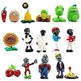Plants vs Zombies Toys Set Series PVZ Action Figures,Gift Cake Topper Cupcake Figures Decorative Toys (1-16)
