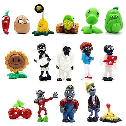 Plants vs Zombies Toys Set Series PVZ Action Figures,Gift Cake...