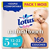 Lotus Baby Natural Touch - Couches Taille 5 (12-22 kg) - lot de 8 paquets de 20 couches (160 couches en totale)