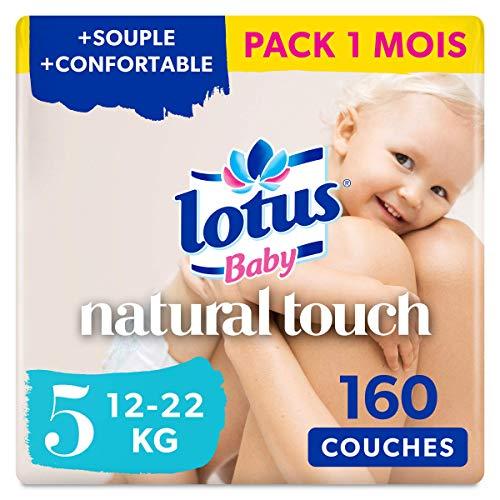 avis couches 60 millions de consommateur professionnel Lotus Baby Natural Touch – Couche taille 5 (12-22 kg) – 8 paquets de 20 couches (160…