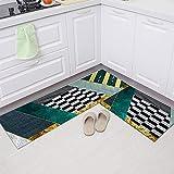 Alfombrillas de Cocina Impresas de Estilo Europeo, alfombras absorbentes Antideslizantes de baño, Alfombrillas de Entrada para decoración del hogar A11 60x180cm
