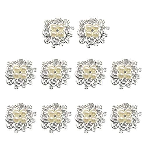 TENDYCOCO 10 stks Legering Bedels Hangers Etnische Stijl voor Ketting Oorbel Armband Haaraccessoires Sieraden DIY Maken Crafting 3*3*0.53cm Beige