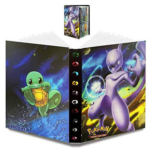 WELLXUNK Álbum de Pokemon Pokemon GX EX Álbum de Cartas Coleccionables Pokémon Titular de Tarjetas de Pokemon Pokémon,30 Páginas y Puede Contener 240 Pokemon Tarjetas (Mew-Dos)