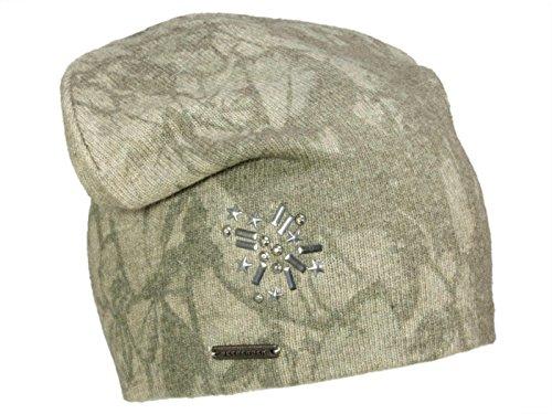 Seeberger Mütze Beanie Headsock mit Print aus Kaschmir - Beige (99) - One Size