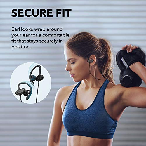 Soundcore    Spirit X 2019 Version Wireless Sports Earphones, Bluetooth Headphones with IP68 Waterproof Protection, SweatGuard, Intense Bass, 18H Playtime, Wireless Earbuds for Running, Workout, Sports