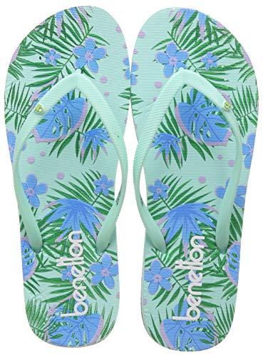 United Colors of Benetton Women Flip Flops Light Green Slippers-3 UK (19P8CFFPL319I)