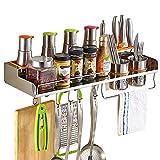 XCXDX Colgador De Cocina De Acero Inoxidable para Colgar En La Pared, Estante De Almacenamiento De La Vinagrera, Porta Cuchillos con Gancho