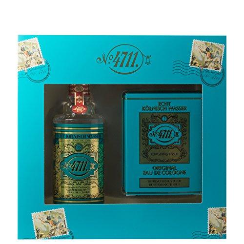 4711–Mujer aromas Real Agua de colonia Set de regalo Eau de cologne 50ml + Refrescante paños 10unidades 1STK.