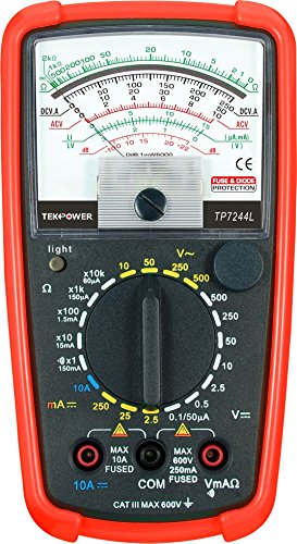 Tekpower TP7244L 7-Function 20-Range Analog Multimeter With Back Light with Strong Protective Holster