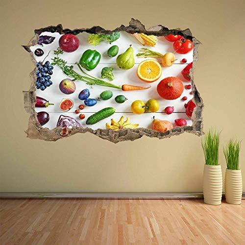 Frutas y verduras frescas pegatinas de pared calcomanías murales oficina en casa decoración de la tienda CH4