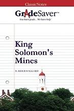 GradeSaver(TM) ClassicNotes: King Solomon's Mines